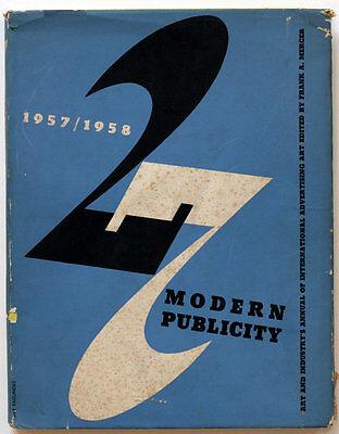 MODERN PUBLICITY rare 1957/1958 graphic design book