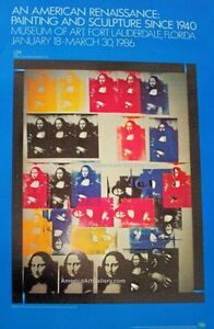 Rare-Out-of-Print-Andy-Warhol-Mona-Lisa-Art-Exhibition-Print-Poster