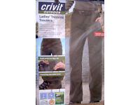 """Size 10 (f) 30"""" Hiking Trousers with Bionic finish, lycra, water and stain repellent"""