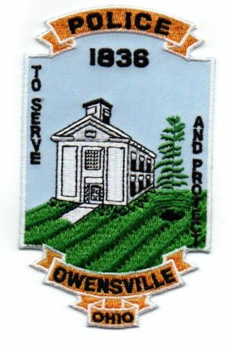 OHIO OH OWENSVILLE POLICE NEW SHOULDER PATCH SHERIFF