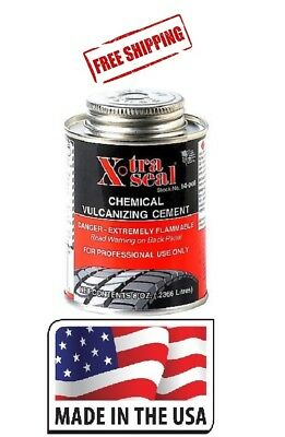 HEAVY DUTY VULCANIZING CEMENT TIRE PATCH GLUE 8 OZ Brushtop Can XTRA SEAL