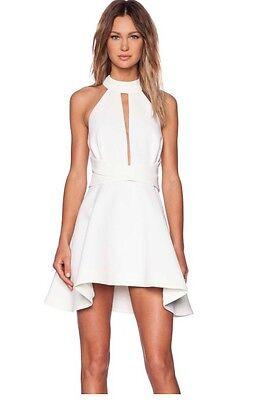 Cameo Designer Breaking Hearts Ivory White Bridal Shower Rehearsal Dinner Dress