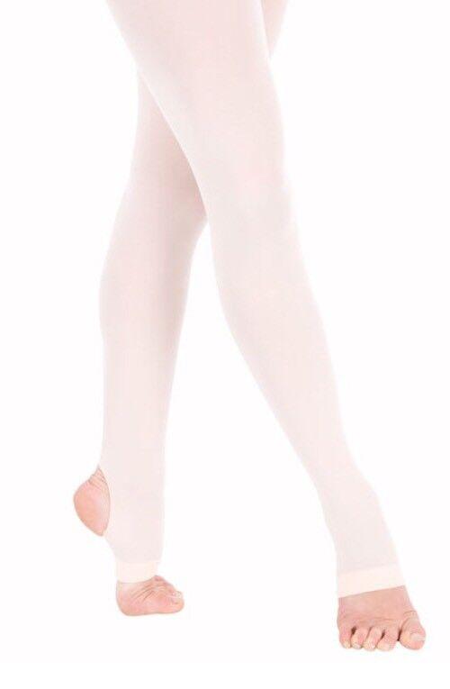 NEW Theatricals #T6100 Microfiber Stirrup Ballet Dance Tights, LT SUNTAN
