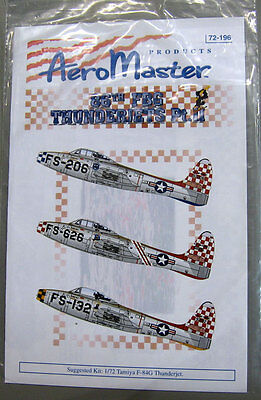 Aeromaster 72-196 1/72 86th FBG Thunderjets Pt.II Decal Sheet