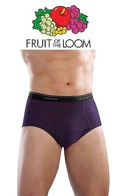 Fruit of the Loom Men's Cotton Fashion Briefs New Sizing for a Better Fit 5-Pack