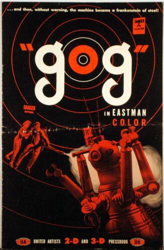 """GOG"",  the machine became a Frankenstein of Steel! 1954 PRESS KIT"