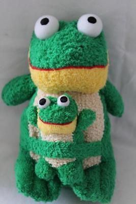 - Terry Cloth Set MOMMA & BABY FROG Plush/Toy Green/Beige 9
