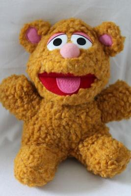 "Vtg SESAME STREET MUPPETS Soft Stuffed BABY FOZZIE BEAR Plush/Toy Brown 8"" (Z7)"