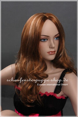 Perücke Schaufensterpuppe Figur Kopf Haare et-w048 Neu braun mann frau