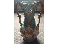 Antique German Glazed Large Decorative Vase