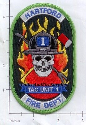 Connecticut - Hartford Tac Uit 1 CT Fire Dept Patch  Skull
