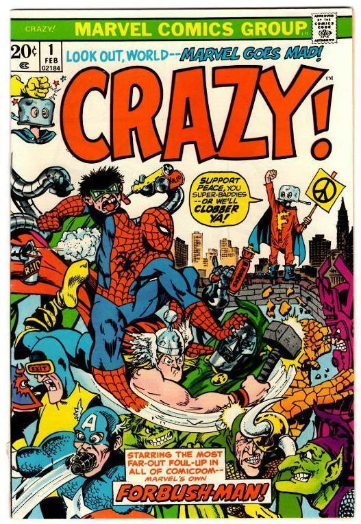 Crazy #1-3 (1972) Marvel FN/FN+