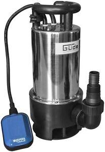 Güde Schmutzwassertauchpumpe GS 1102 PI Tauchpumpe Edelstahl Schmutzwasserpumpe