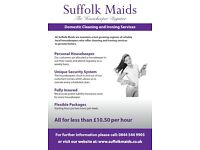 Suffolk Maids Ltd - Domestic Cleaning & Ironing Service - Will provide Maids/Cleaners/Housekeepers