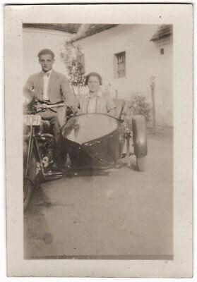 Original 1930er Jahre, Motorrad, Beiwagenmaschine, SNAPSHOT