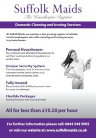 Suffolk Maids Ltd - Domestic Cleaning & Ironing Service - Maid / Cleaner / Housekeeper