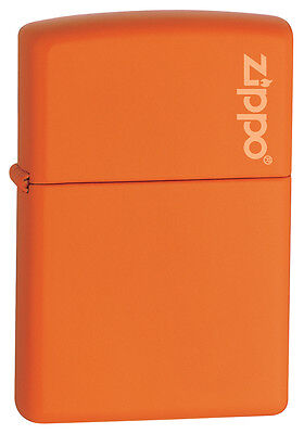 Zippo Windproof Orange Matte Lighter With Logo, 231ZL, New In Box