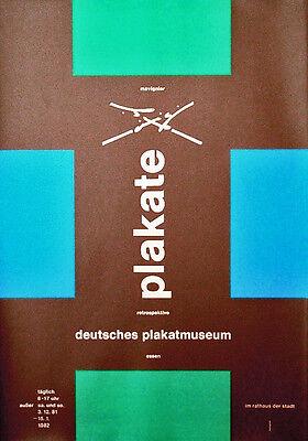 Almir Mavignier, 1981, Deutsches Plakatmuseum Essen