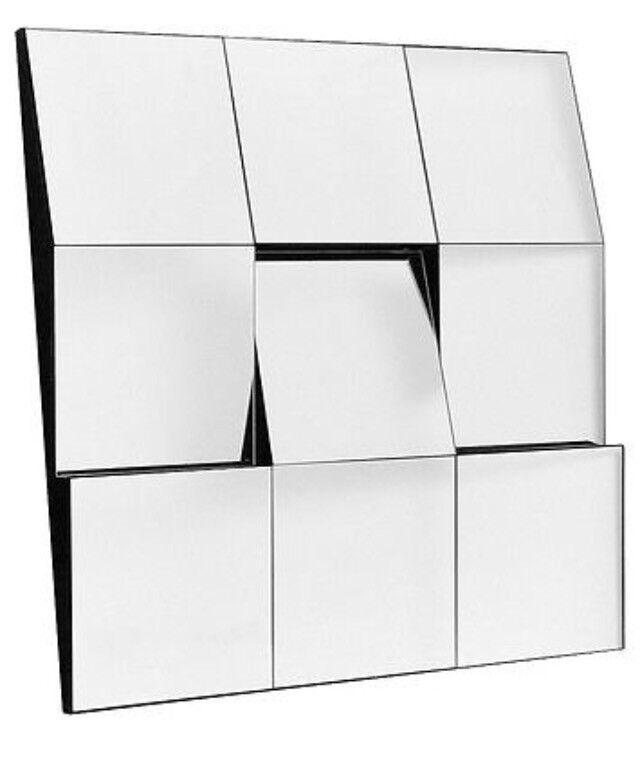 facet tilted modern mirror