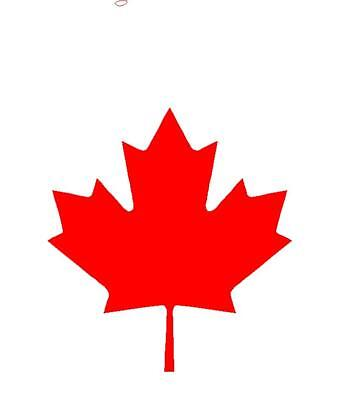 CANADIAN MAPLE LEAF Vinyl Decals car boat Laptop Stickers
