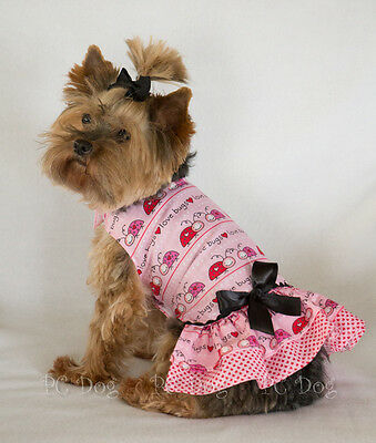 L New Love Bugs Valentine's Day Dog dress clothes pet apparel Large PC Dog®