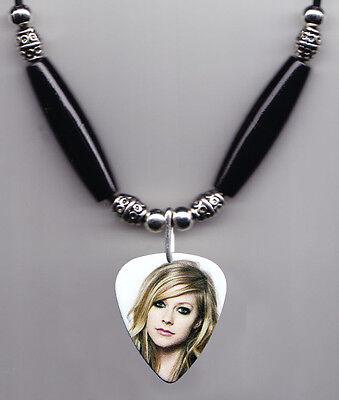 Avril Lavigne Signature Photo Guitar Pick Necklace