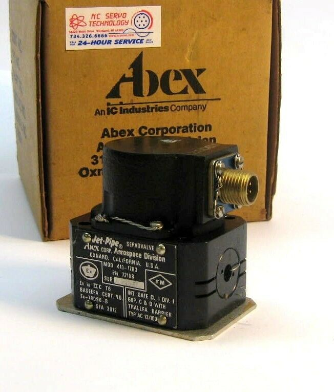 New! Abex Jet Pipe Servo 410-1783 W/12 Month Warranty