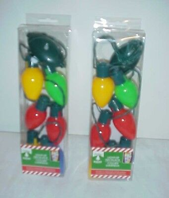 2 - Lighted Christmas Necklace LED Xmas Bulbs Kids Adults Party Favors Light Up