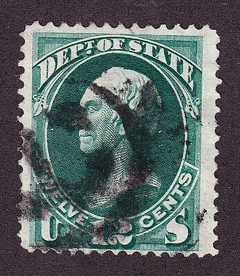 US O63 12c State Department Used w/ Numeric Cancel SCV $125+