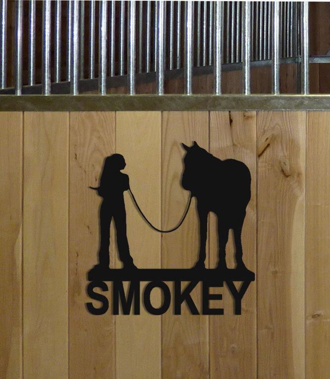 HORSE STALL SIGN - HORSES - EQUESTRIAN DECOR - SADDLES