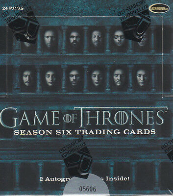 Game Of Thrones Season 6   One  1  Factory Sealed Trading Card Box   Rittenhouse