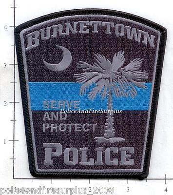 South Carolina - Burnettown SC Police Dept Patch - Thin Blue Line