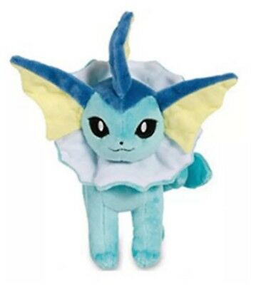 "Pokemon Vaporeon Eevee Evolution Plush Stuffed Animal Toy 8"" US Seller"