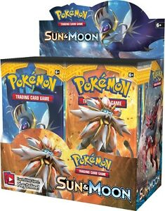 Pokemon Sun & Moon Sealed Booster Trading Card Box