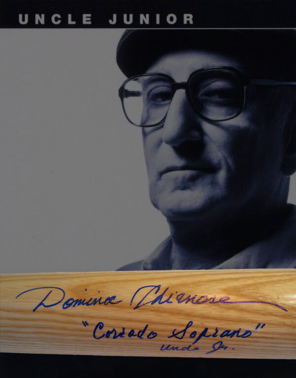 Dominic Chianese Autographed Baseball Bat The Sopranos W/ Inscriptions & COA