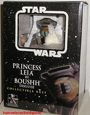 GENTLE GIANT 2005 STAR WARS PRINCESS LEIA IN BOUSHH DISGUISE MINI BUST In Stock