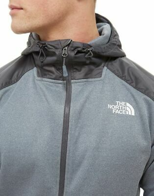 The North Face Men's poly Full Zip Hoodie grey/grey S-3XL RRP £85 bnwt