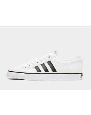 adidas Originals Nizza Lo ® Trainer Men's (UK Sizes 6 - 12)White-Black Brand New