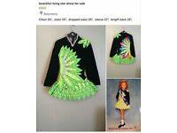 Rising star Irish dancing dress for sale £800