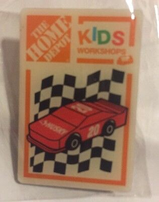 NEW THE HOME DEPOT KIDS WORKSHOP #20 RED RACE CAR PIN COLLECTIBLE RARE HUSKY