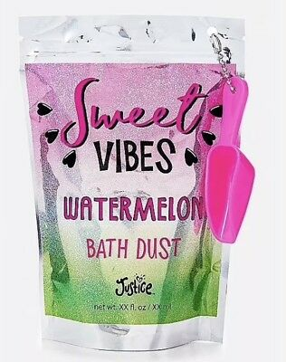 Justice Sweet Vibes WATERMELON Bath Dust New in Package