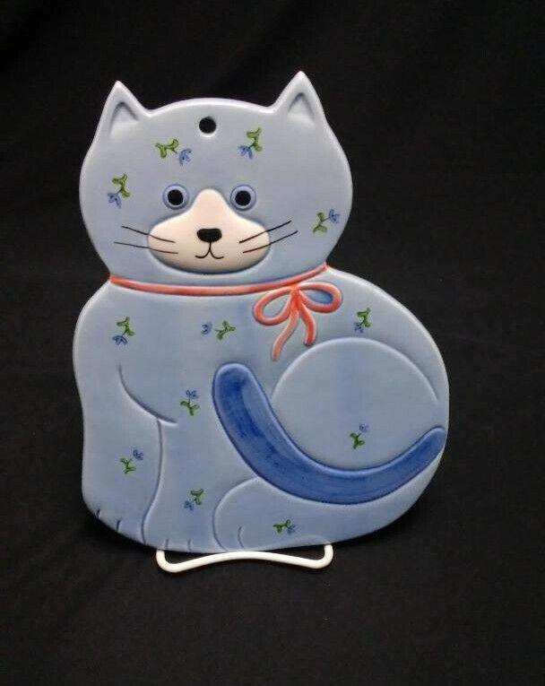 Otagiri Cat Japan Blue Cat Trivet Handcrafted