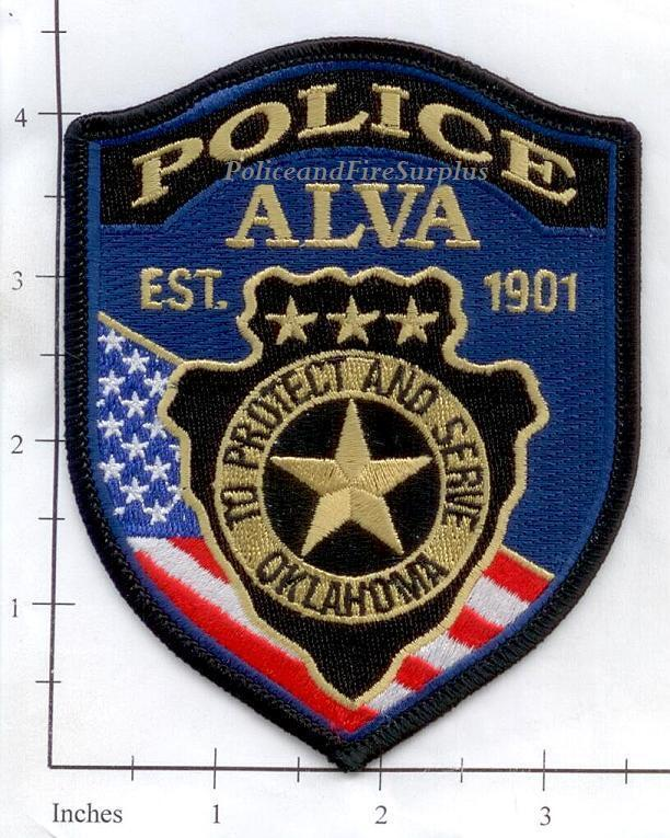Oklahoma - Alva OK Police Dept Patch