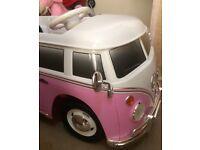 Vw 6v pink campervan