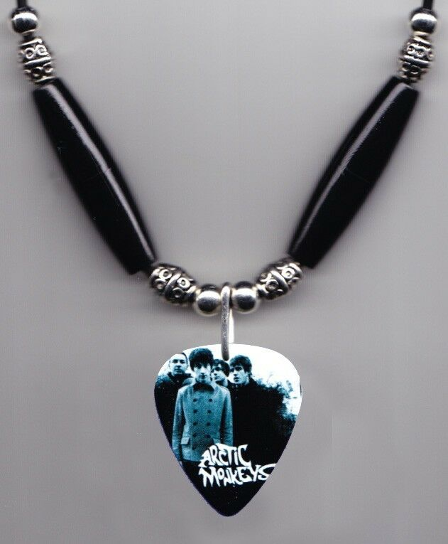 Arctic Monkeys Band Photo Guitar Pick Necklace #2