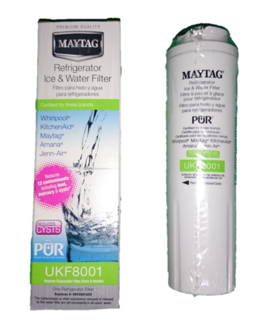 FRIDGE WATER FILTER CARTRIDGE REPLACEMENT MAYTAG/JENNAIR GENUINE UKF8001