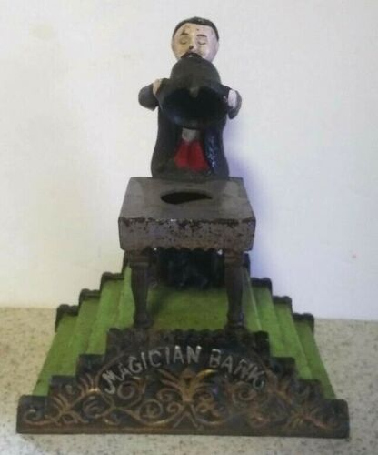 Magician Bank Cast Iron Magic Gift Collectible