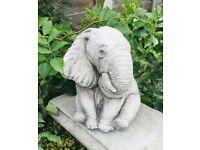 Good Luck Sitting Elephant Garden Ornament