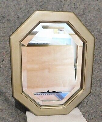 """Large Solid Wood """"16x20"""" Octagon Beveled Framed Wall Mirror"""