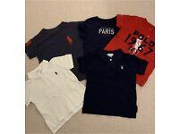 5 Boys Ralph Lauren T Shirts Polos 18m FREE